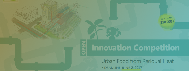 Climate-KIC supports 210,000 € open innovation competition to allow food production from wasted heat energy