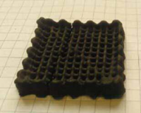 Customized 3D porous carbon structures made from sustainable sources