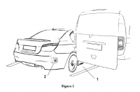 Blind spot assitance device to exit maneuver in perpendicular and angled parking.